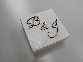 Krabičky - Drevená krabička na prstene - 10669003_