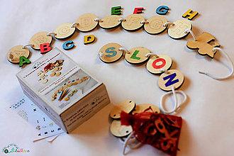 Hračky - Kreatívne písmenká ABECEDA – tvorenie prvých slov (Veľká kreatívna sada ABECEDA priradenie krúžky + písmenká) - 10669539_