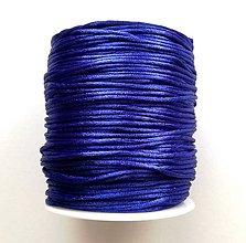 Galantéria - Šnúrka saténová 1 mm - 20 m (modrá II) - 10670992_
