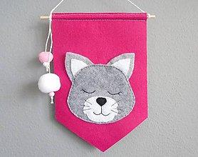 Detské doplnky - Navrhni si vlajku do detskej izby! (základná vlajka: mačička) - 10668131_