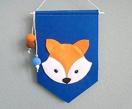 Detské doplnky - Navrhni si vlajku do detskej izby! (základná vlajka: líška) - 10668170_