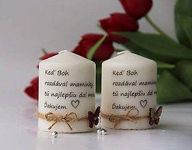 Svietidlá a sviečky - Duo dekoračných sviečok pre mamičku - 10670269_