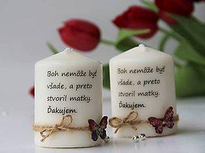Svietidlá a sviečky - Duo dekoračných sviečok pre mamičku - 10670272_
