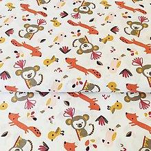 Textil - lesné zvieratká II, 100 % bavlna Francúzsko, šírka 150 cm - 10668846_