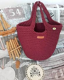 Veľké tašky - TOTE BAG bordová - 10668810_