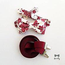 Doplnky - Pánsky motýlik a traky - Bordoš - 10668584_