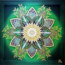 Obrazy - Mandala...Kvet zdravia a centra sily - 10668636_
