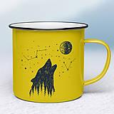 Nádoby - Žltý smaltovaný hrnček - 10667816_