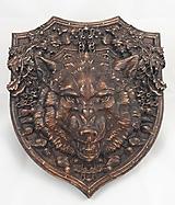 Dekorácie - Erb s vlkom - 10667990_