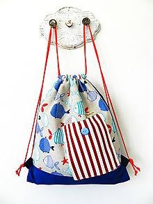 Detské tašky - Detský batoh rybky 6-12 rokov - 10669333_