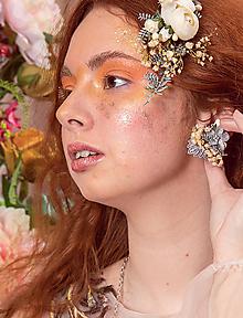 """Náušnice - Kvetinové náušnice """"láska v svite mesiaca"""" - 10669459_"""