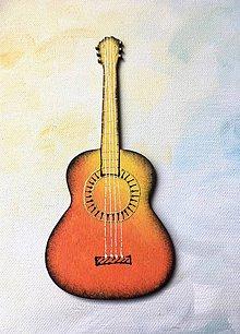 Magnetky - Drevené magnety - kytara/gitara - 10668181_