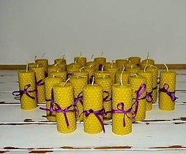 Darčeky pre svadobčanov - Sviečka z včelieho vosku - 10668429_