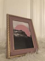 Rámiky - Ružový rámik - 10670485_