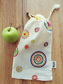 Taštičky - Mandala taška na desiatu, vlasové doplnky a pod. - 10669673_