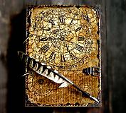 Papiernictvo - PRE KRÁĽA 3 - fotoalbum,alebo vintage kniha hostí + album narodeninový,rodinný album,Diár 2021 - 10670216_
