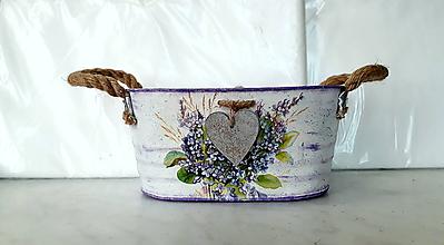 Nádoby - plechový kvetináč orgován - 10670895_