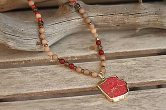 Náhrdelníky - Náhrdelník z minerálu regalit, achát, záhneda, jadeit - 10669290_