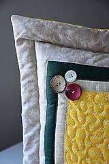 Úžitkový textil - Vankúš - prequiltovaný - 10668894_