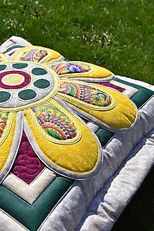 Úžitkový textil - Krajina divých kvetov No.8- vankúš - 10668852_
