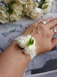 Náramky - Jemný svadobný náramok - 10671272_