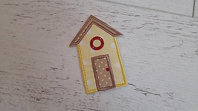 Materiál ručne robený - domček - nažehľovačka - 10671352_