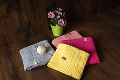 Textil - Detská deka,OEKO-TEX®, do kočíka a postieľky, pudrovoružová - 10672084_