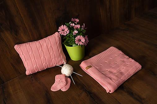 Detská deka,OEKO-TEX®, do kočíka a postieľky, pudrovoružová