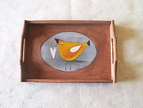 Nádoby - Maľovaná tácka - 10672681_