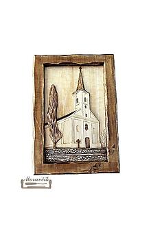 Obrazy - Drevorezba Kostol - 10671719_