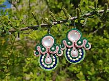 Náušnice - Happy Spring -soutache earring - ručne šité šujtášové náušnice - 10673619_