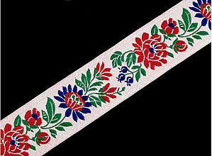Galantéria - Stuha krojová, vyšívaná- š.35mm - 10671760_
