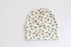 """Detské čiapky - Jednovrstvová čiapka""""nežné vtáčiky"""" - 10673005_"""