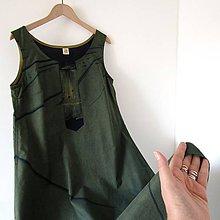 Šaty - SPOUTANÁ NÁHODA - šaty modrotiskové - 10671375_