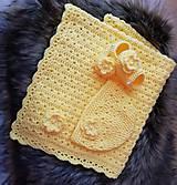 Textil - Žltá súprava pre miminko - 10671675_