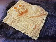 Textil - Žltá súprava pre miminko - 10671678_