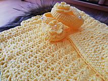 Textil - Žltá súprava pre miminko - 10671679_