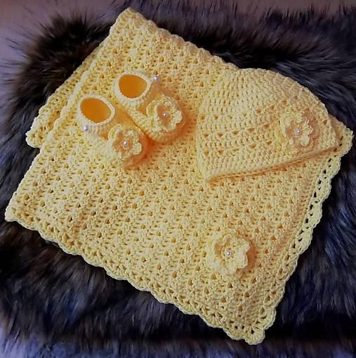 Žltá súprava pre miminko