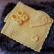 Textil - Žltá súprava pre miminko - 10671677_