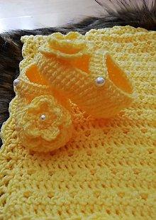 Topánočky - Papučky žlté - 10671681_
