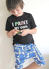 Detské oblečenie - kraťasy z biobavlny Potrubie - 10673650_