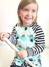 Detské oblečenie - tričko z biobavlny Zajko (mentolové) - 10673664_