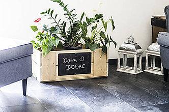 Nádoby - Drevená bednička na kvety - Všade dobre, doma ... - 10671263_