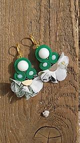 Náušnice - Verde - 10672922_