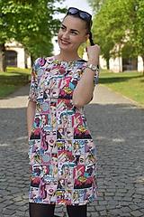Šaty na dojčenie s vreckami - POP ART