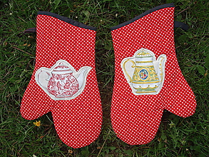 Úžitkový textil - rukavice čajník - 10673276_