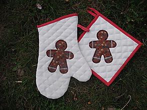 Úžitkový textil - chňapka a rukavice PERNÍČEK - 10673300_
