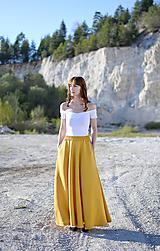 Sukne - Sukňa Claire- horčica - 10671147_