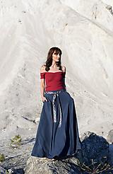 Sukne - sukňa Claire- oceľovomodrá - 10671175_