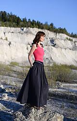 Sukne - Sukňa Claire- tmavomodrá - 10671194_